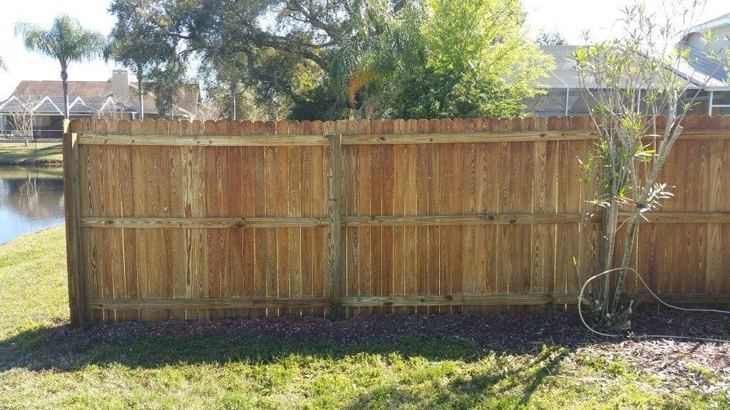 Professional Fence Cleaning Has your fence or wall seen better days? We can restore them to like new condition. Many wooden fences look so grey and green that you would think they need replaced. A quick cleaning with the right methods will have you thankful you didn't buy a new one. Mold covered vinyl fences and dirty walls of any type don't stand a chance against our cleaning process.