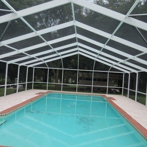Pool deck dirty? Screen enclosure covered in green? Lightning Pressure Washing can remove the mold, mildew, and algae that has made its home in your pool cage. Pool enclosure cleaning is time consuming and it takes a gentle, low pressure approach to safely clean them.